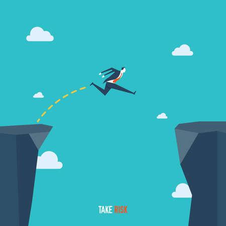 Take risk concept Illustration