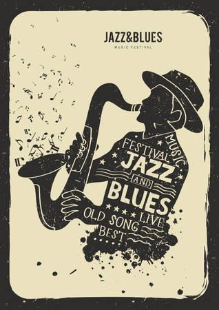 concept de festival de jazz et de blues