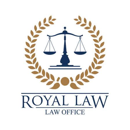 impartiality: Royal law logo element.