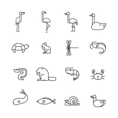 translucent: set of animal icons