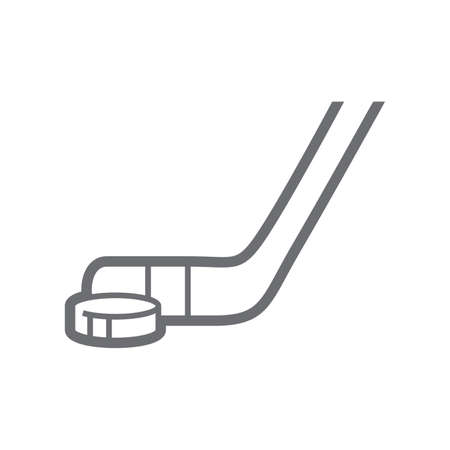 puck: ice hockey stick and puck