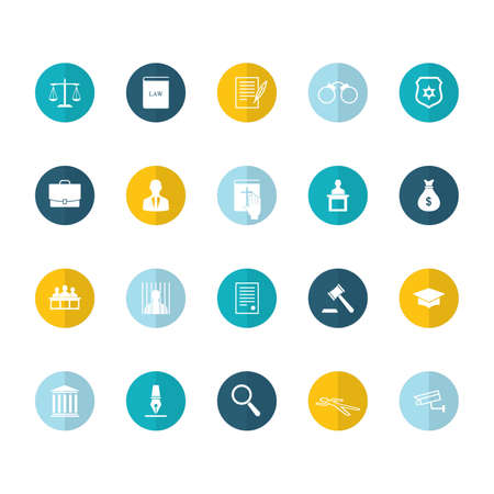 set of law icons Illustration