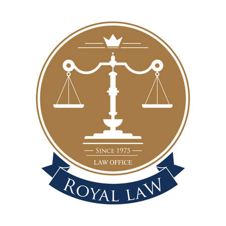 impartiality: royal law logo element