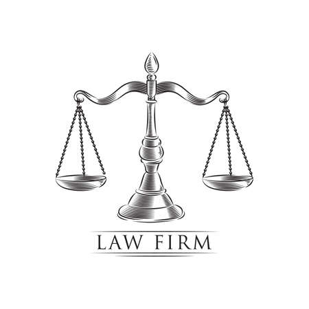 law firm design Иллюстрация