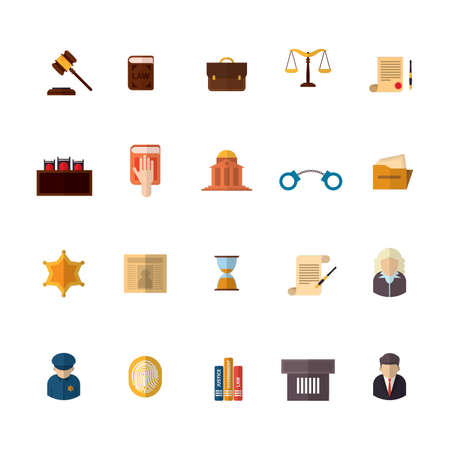 oath: set of law icons Illustration