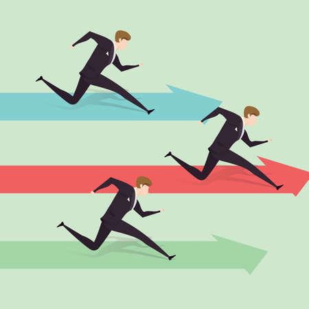 smart goals: businessmen reaching business goals concept