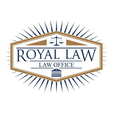 impartiality: royal law logo element