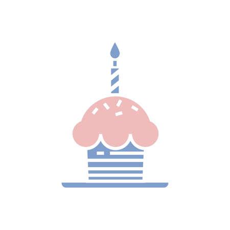 birthday cupcake Illustration