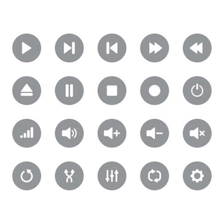 eject: set of media interface icons