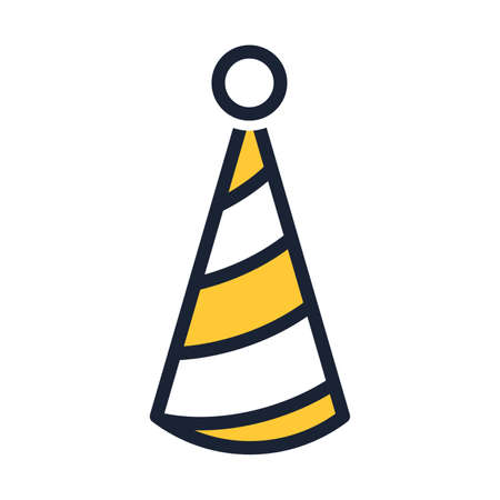 Party comical hat icon. Illustration