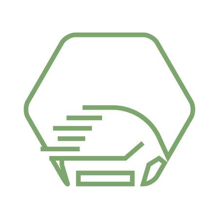 omnivorous: Hedgehog icon. Illustration