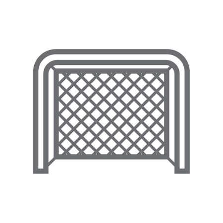 アイス ホッケー ゴール ポスト。  イラスト・ベクター素材