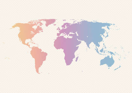 Wereldkaart ontwerp.