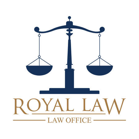 impartiality: Royal law logo element.