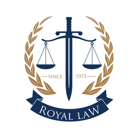 impartiality: Royal law symbol element.