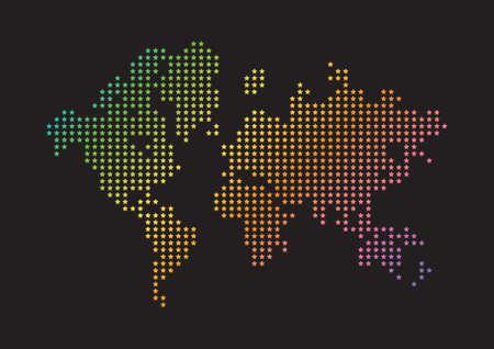 creative world map design