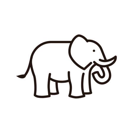 Elephant icon Ilustração