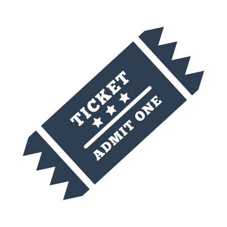 Sports ticket icon Illustration