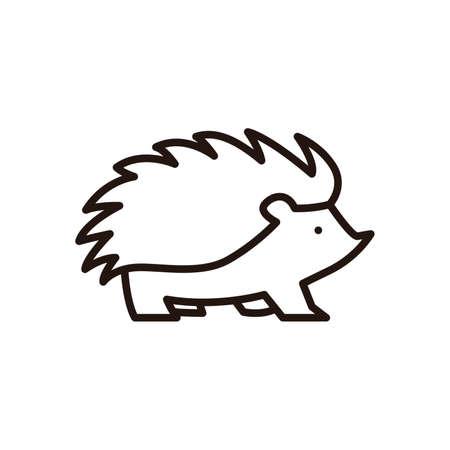 Egel pictogram Stock Illustratie