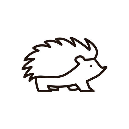 Hedgehog icon Stock fotó - 74439057