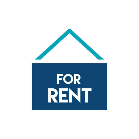 renting: For rent sign icon Illustration