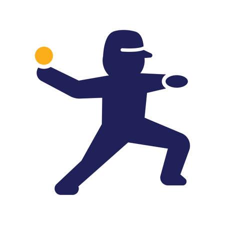 pitching: Baseball pitcher icon