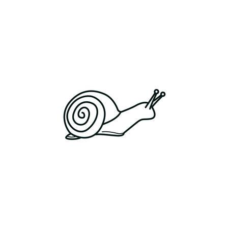 달팽이 일러스트