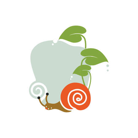 Snail in nature icon Illustration