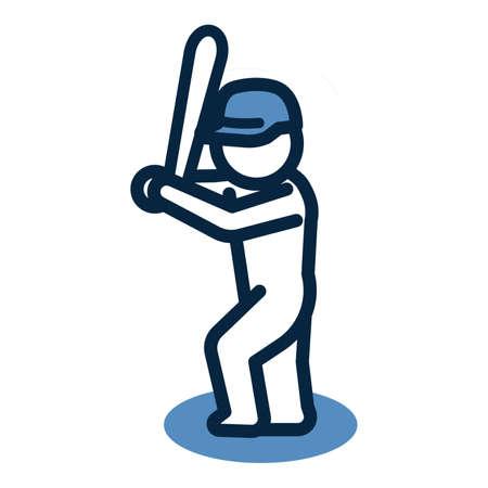 Baseball player icon Illustration