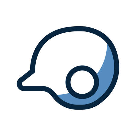 Batting helmet icon Illustration