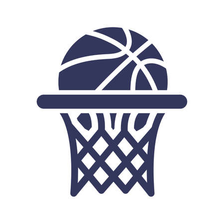 Basketball hoop icon Illustration