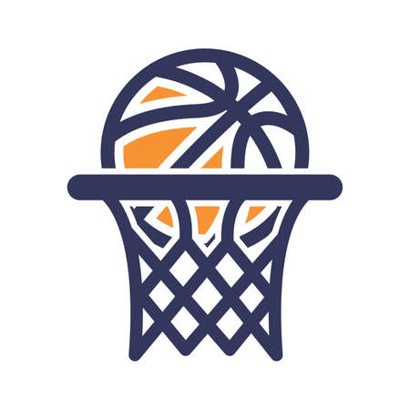 Basketball hoop icon Illustration