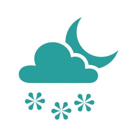 snowing: Snowing icon Illustration