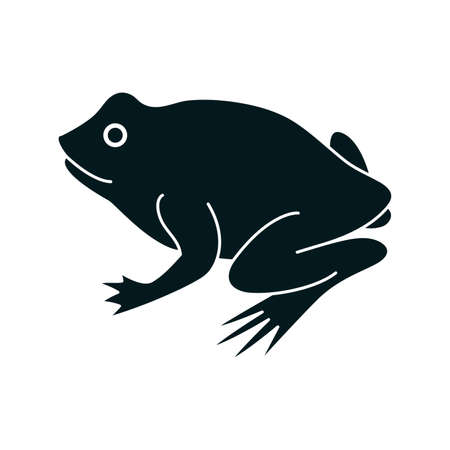 croaking: Frog icon Illustration