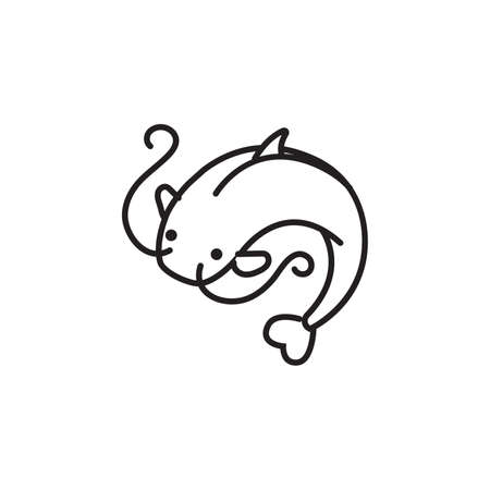catfish: Catfish icon Illustration