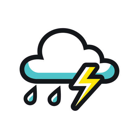 Lightning with cloud icon