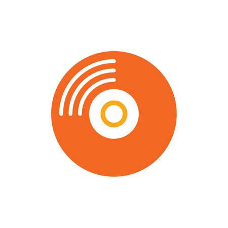 compact disc icon Illustration