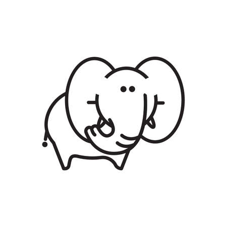 Elephant icon Illustration