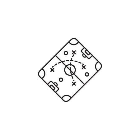 축구 전략 아이콘 스톡 콘텐츠 - 74440281