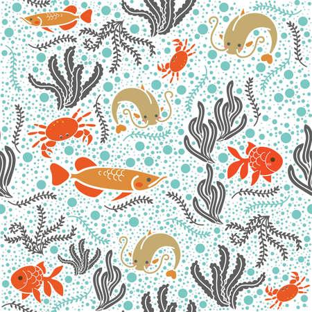 gills: Marine life background design Illustration