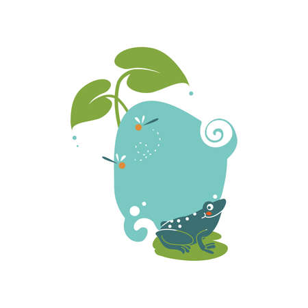 lilypad: frog in nature icon