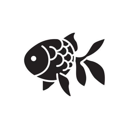 Goldfisch-Symbol Standard-Bild - 74440476