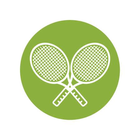 Two tennis rackets Illustration