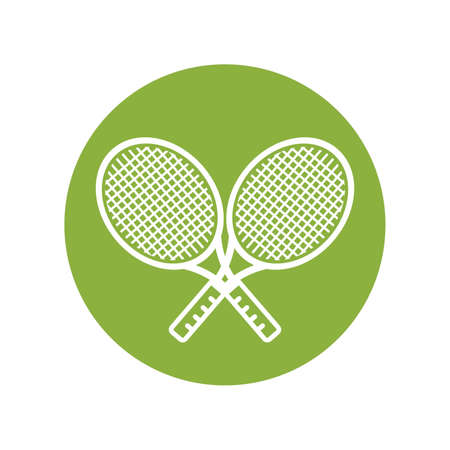 gripping: Two tennis rackets Illustration