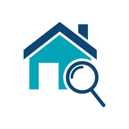 House with magnifying glass icon