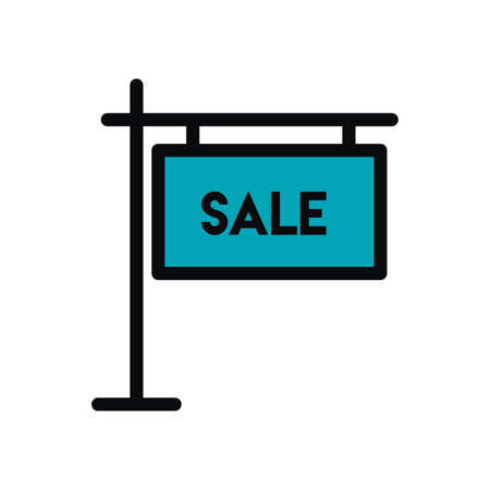 For sale sign icon Vetores