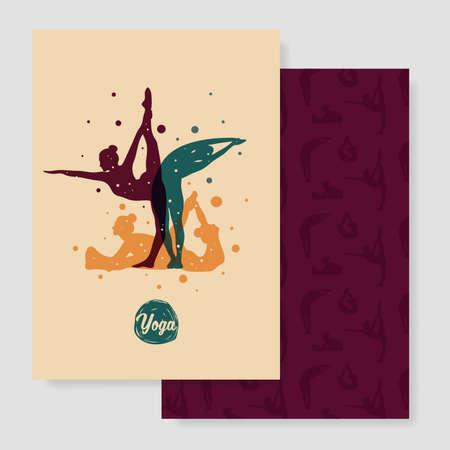 yoga design 矢量图像