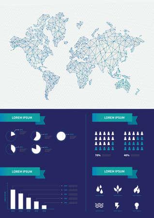 waterdrops: world map design