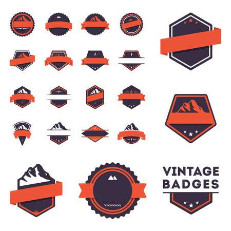 ranges: vintage badges set Illustration