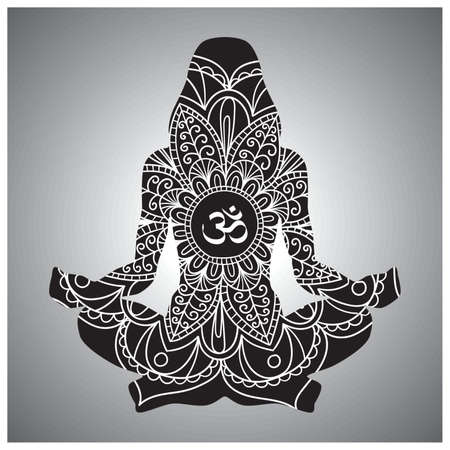mantra: yoga design Illustration